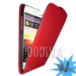 Etui carbone Wiko Cink Five Rouge